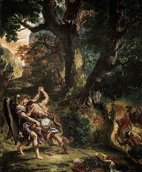 495px-Eugène_Delacroix_-_Jacob_Wrestling_with_the_Angel_(detail)_-_WGA06221