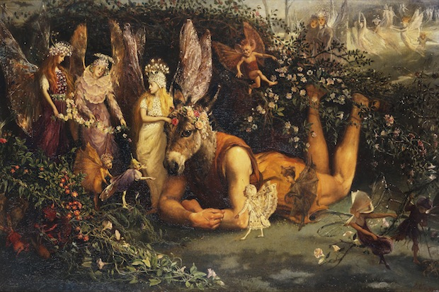 Titania and Bottom, from A Midsummer Night's Dream (oil on canvas)